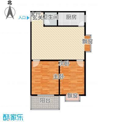 阳光80公寓77.00㎡阳光80公寓户型图2室2厅1卫77平米G户型(1/2张)户型2室2厅1卫