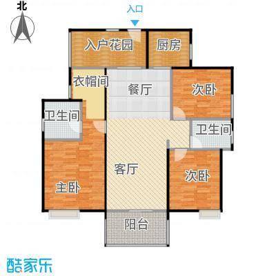 中信森林湖兰溪谷8.00㎡8栋一单元01户型3室1厅2卫1厨