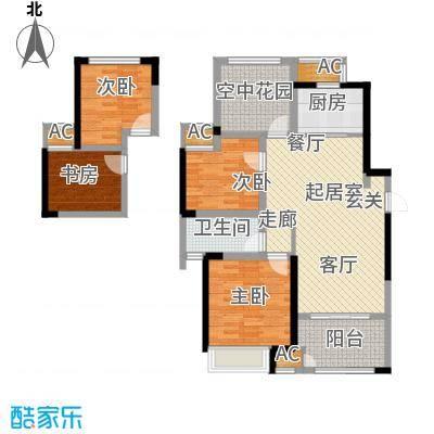 新城香溢俊园110.00㎡110平米D户型2室2厅1卫QQ