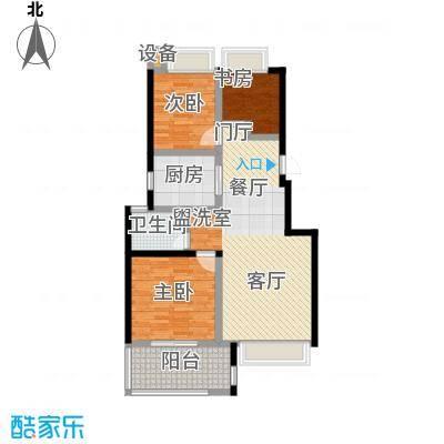 朗诗未来街区89.00㎡朗诗未来街区户型图城果C4户型(1/13张)户型3室2厅1卫
