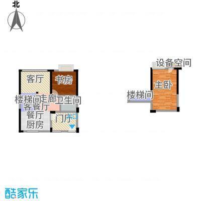 迪纳酒店公寓88.00㎡3-8栋03、06单元户型2室1厅1卫