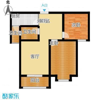 航天常青苑98.00㎡高层E户型2室2卫1厨