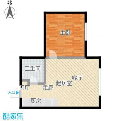 亿合城57.00㎡1号楼I/J户型一室一厅一卫户型1室1厅1卫