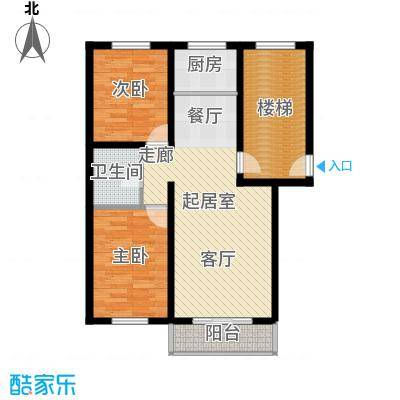 意达花园83.00㎡意达花园83.00㎡2室2厅1卫户型2室2厅1卫