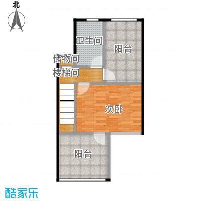 武汉锦绣香江112.83㎡D2层原始户型2室2厅2卫