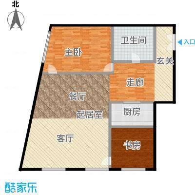 当代MOMA・历峰153.20㎡图为2居户型2室2厅1卫