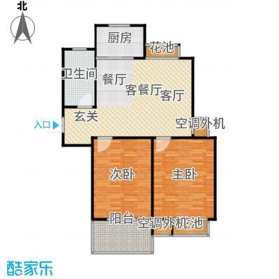 群星苑90.00㎡群星苑户型图90平米两居室(1/1张)户型2室1厅1卫