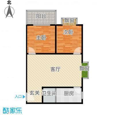 阳光80公寓69.81㎡阳光80公寓户型图C'户型2室2厅1卫(16/18张)户型2室2厅1卫