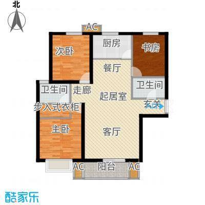 龙泽国际113.58㎡龙泽国际户型图户型3室2厅2卫QQ