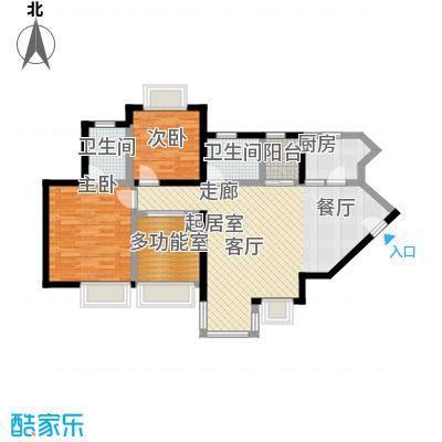 丰泰东海城堡98.00㎡6栋1单元014栋2单元0户型2室2卫1厨