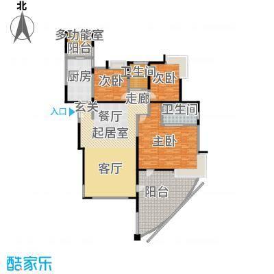 圣莫丽斯三期210.00㎡P1 奇数层 三房两厅两卫 200-户型