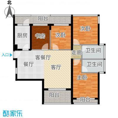 光明大第85.00㎡4栋A型4房2厅2卫-偶数层户型4室2厅2卫
