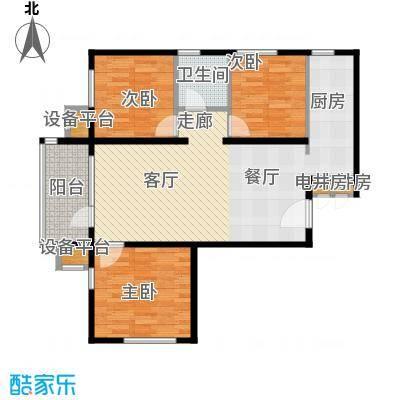 北京苏活95.19㎡北京苏活户型图1、2、3号楼A户型三室两厅一卫(4/10张)户型3室2厅1卫