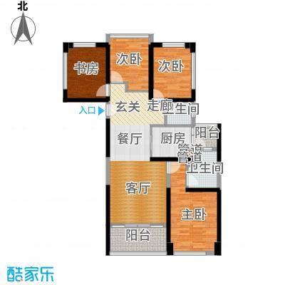 绿景香颂89.00㎡绿景香颂户型图B座1单元E型4房2厅2卫89平方米(9/16张)户型4室2厅2卫