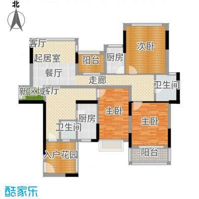 招商观园7栋一、三单元E、F户型图(奇数层)户型