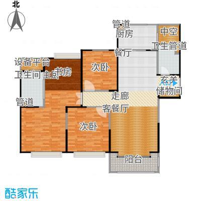 合生海景1号160.00㎡B户型3室2厅2卫