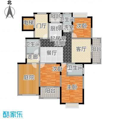 金科王府183.03㎡洋房3F 01室户型3室2厅3卫