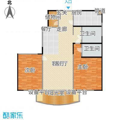 静安鼎鑫佳园136.20㎡房型: 二房; 面积段: 136.2 -142.71 平方米; 户型