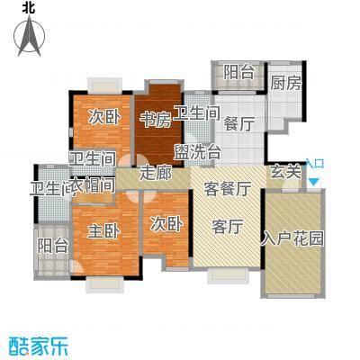 华建半岛豪庭175.59㎡户型4室1厅3卫1厨