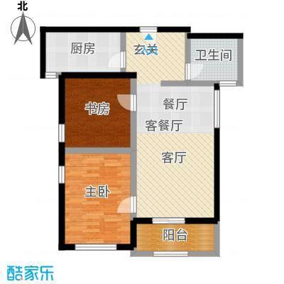 凯悦中心84.00㎡高层B户型2室2厅1卫
