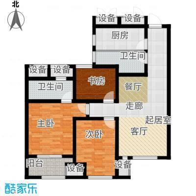 道成广场108.00㎡2#-A6户型3室2厅2卫