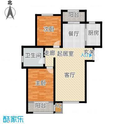 松江城玫瑰郡户型2室1卫1厨