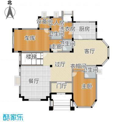 方迪山庄192.32㎡B3一层户型1室3卫1厨