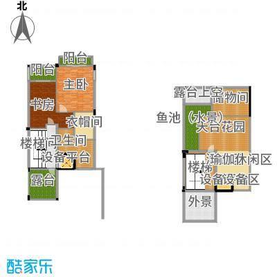 宏远御庭山648.44㎡双拼别墅三层、顶层户型9室5厅8卫