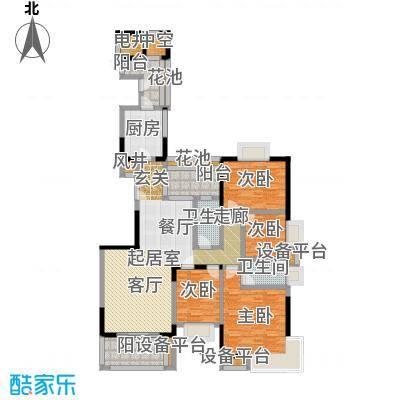 富力唐宁花园A7栋标准层01东南朝向户型4室2卫1厨