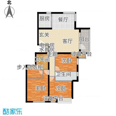北京苏活4、5、6、7号楼J户型3室2卫1厨