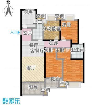 龙湖香醍漫步142.00㎡124号楼愧夏142平米户型4室2厅2卫