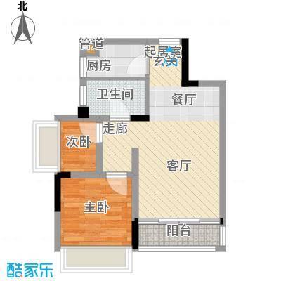 长虹百荟花园60.00㎡2室2厅1卫