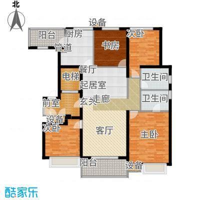 九龙仓雅戈尔铂翠湾153-155平米户型4室2厅2卫