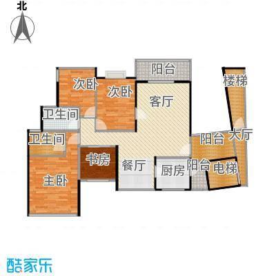 鼎峰品筑113.20㎡户型4室1厅2卫1厨