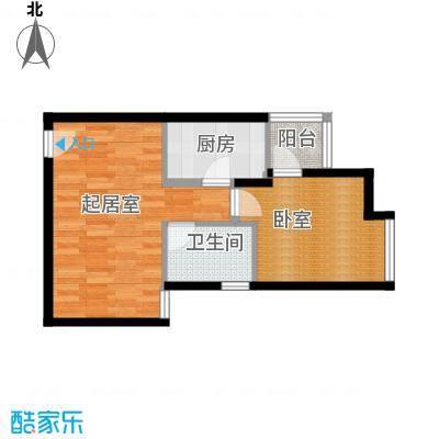 西荷丰润国际公寓67.99㎡I1户型1卫1厨