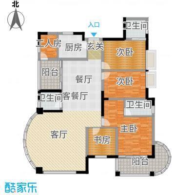 翠亨豪园175.33㎡10栋户型4室1厅3卫1厨