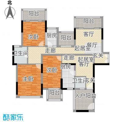 招商观园140.00㎡二期8-9栋1单元_10栋A-B型偶数层3房2厅2卫140㎡规划平面户型3室2厅2卫