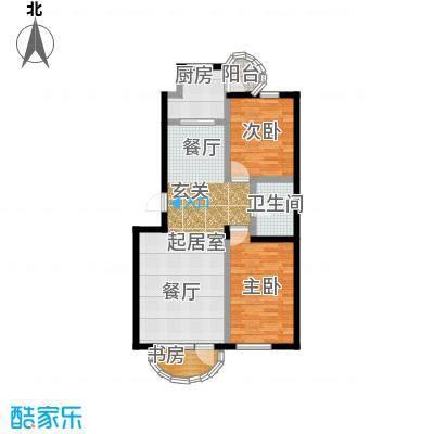 香洲心城三期户型3室1卫1厨