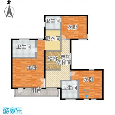 观唐云鼎138.57㎡C2二层户型3室3卫