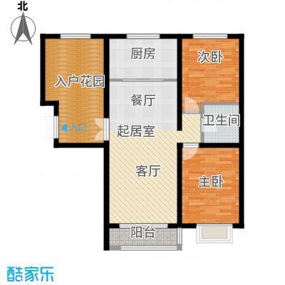 世纪龙庭二期110.00㎡L户型2室2厅1卫