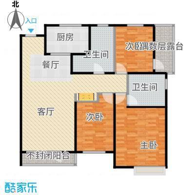 万科蓝山137.00㎡户型3室2厅2卫