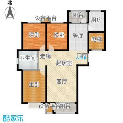 香榭澜湾A户型3室1卫1厨
