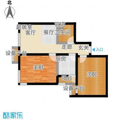 北辰福第09两室两厅一卫户型