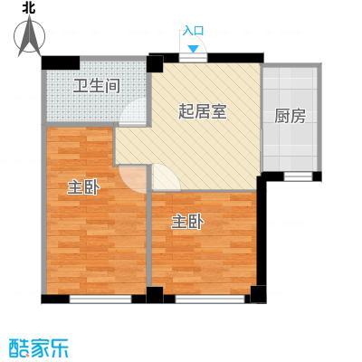 海天富地56.00㎡B户型1室2厅1卫