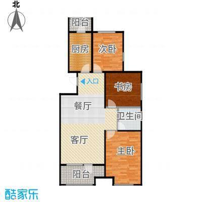 金地铂悦115.00㎡高层E2户型3室2厅1卫