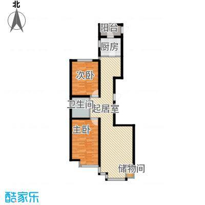 荣斌公园壹号114.50㎡F户型2室2厅1卫