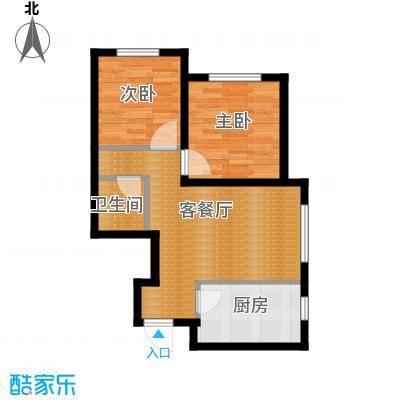 瑞家景峰76.72㎡A2-1户型2室2厅1卫
