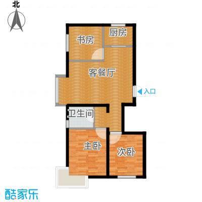 瑞家景峰105.43㎡C1户型3室2厅1卫