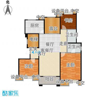 中海凤凰熙岸136.00㎡C5户型4室2厅2卫