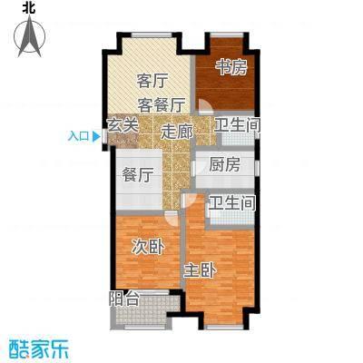 凯悦中心132.00㎡高层C1户型3室2厅2卫